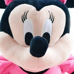 Минни Маус мягкая в розовом платье