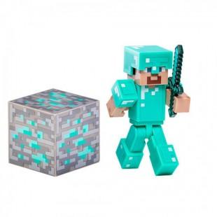 Игрушка Стив из Minecraft  с алмазным кубиком
