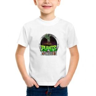 Детская футболка хлопок Plants vs zombies