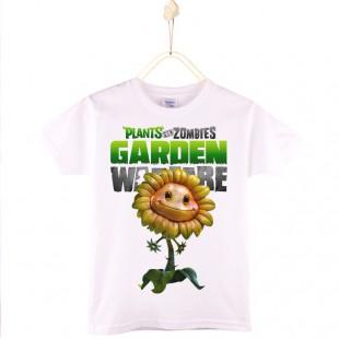 PVZ детская футболка хлопок с рисунком кукурузопушки
