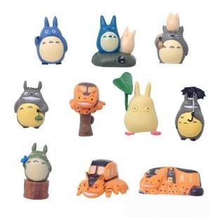 10 фигурок персонажей тоторо 4 - 5 см