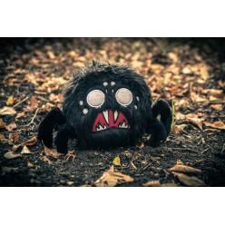 Паук чёрный мягкий 25 см.
