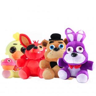 Мягкие игрушки серии ФНАФ набором высотой 25 см.